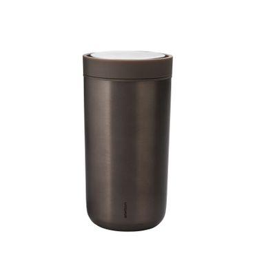 To Go Click 340 ml Kaffeebecher braun Metallic