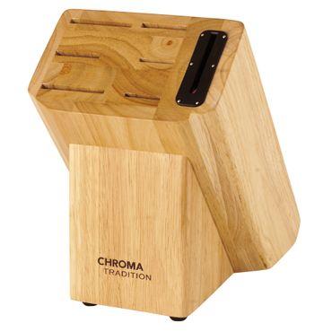 CHROMA TRADITION Messerblock für 6 Messer mit integriertem Schleifgerät