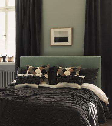 LINUM Kissenbezug GAMLASTAN graugrün 50x50 – Bild 2