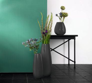 Vase Ease Anthrazit glänzend 45 cm – Bild 2