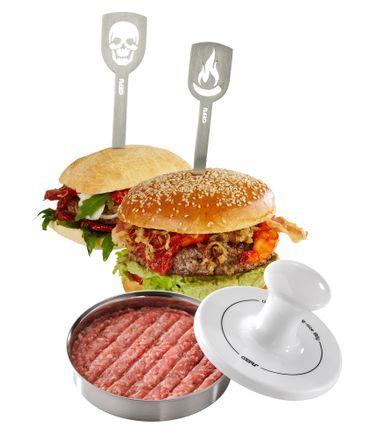 GEFU Hamburgerpresse Spark + Hamburgerspieße – Bild 1