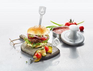 GEFU Hamburgerpresse Spark + Hamburgerspieße – Bild 2