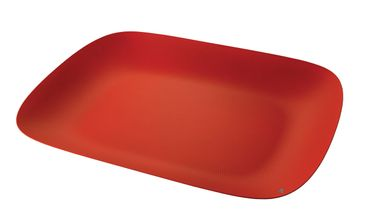 ALESSI Platte Moire rot