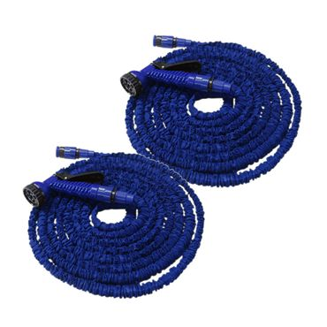 Flexibler Gartenschlauch Flexischlauch Schlauch 2 x blau 15 m EUR 0,83/m – Bild 1