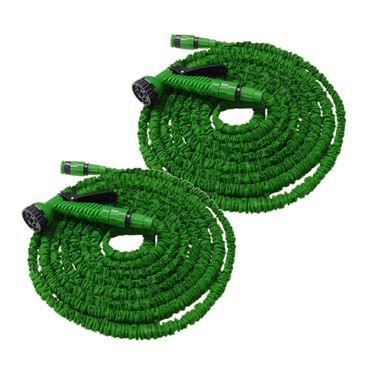 Flexibler Gartenschlauch Flexischlauch Schlauch 2 x grün 22,5m EUR 0,64/m – Bild 1