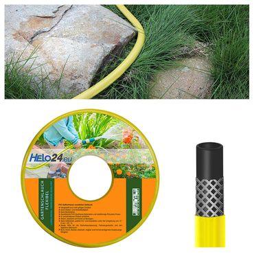 """Gartenschlauch Wasserschlauch Bewässerungsschlauch 25m 1/2"""" Zoll gelb 0,59€/m – Bild 1"""