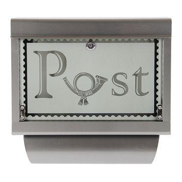 Briefkasten Wandbriefkasten Postkasten inkl. Zeitungsrolle Edelstahl rostfrei M1 – Bild 8