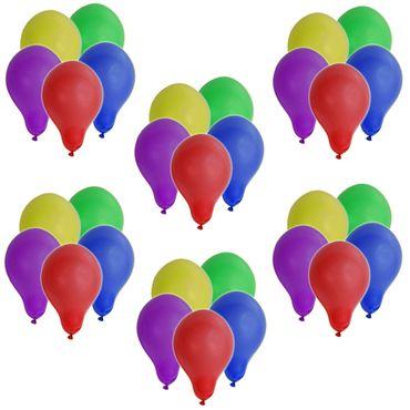 Helium Ballongas ca. 0,25 m³ Heliumflasche inkl 30 Luftballons Gas RUND BUNT – Bild 2