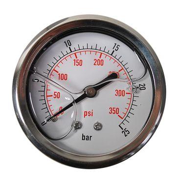 """Glycerinfüllung Manometer waagerecht 63mm 1/4"""" Glycerin Hydraulik versch. Typen – Bild 8"""