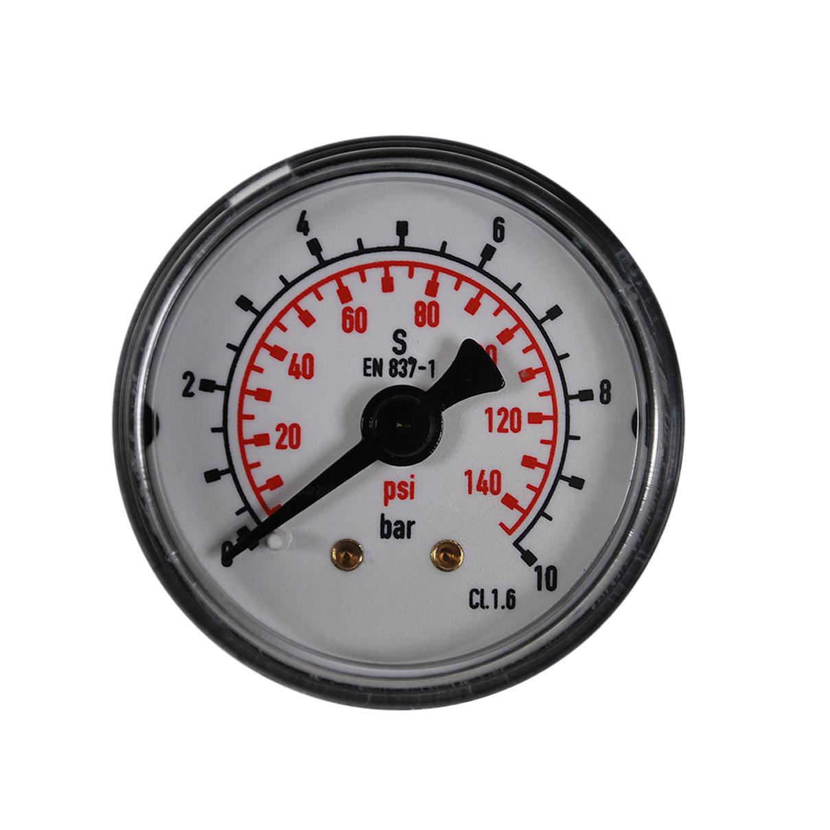 verschiedene Anschlüsse Manometer bis 10bar für Druckminderer