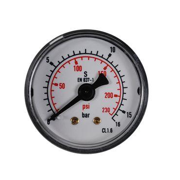 """Manometer waagerecht bar+psi 1/8"""" 1/4"""" 40, 50 und 63mm versch. Anzeigebereiche – Bild 6"""