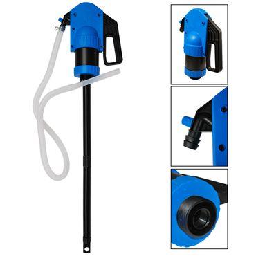 ADBlue Handpumpe Fasspumpe SRL 1000 Hebelpumpe inkl. 2m Schlauch 50L/min (blau) – Bild 1