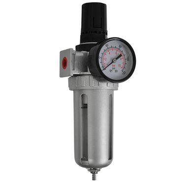 """Druckluft Wartungseinheit Wasserabscheider Druckminderer Druckregler 1/4"""" Top – Bild 1"""