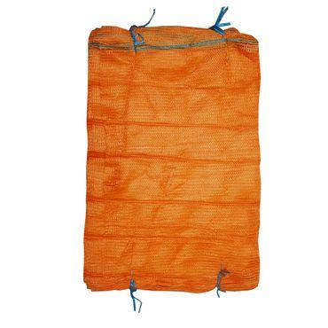 100 Stück Raschelsäcke für 50,0 kg Holzsäcke Kartoffelsäcke mit Zugband – Bild 1