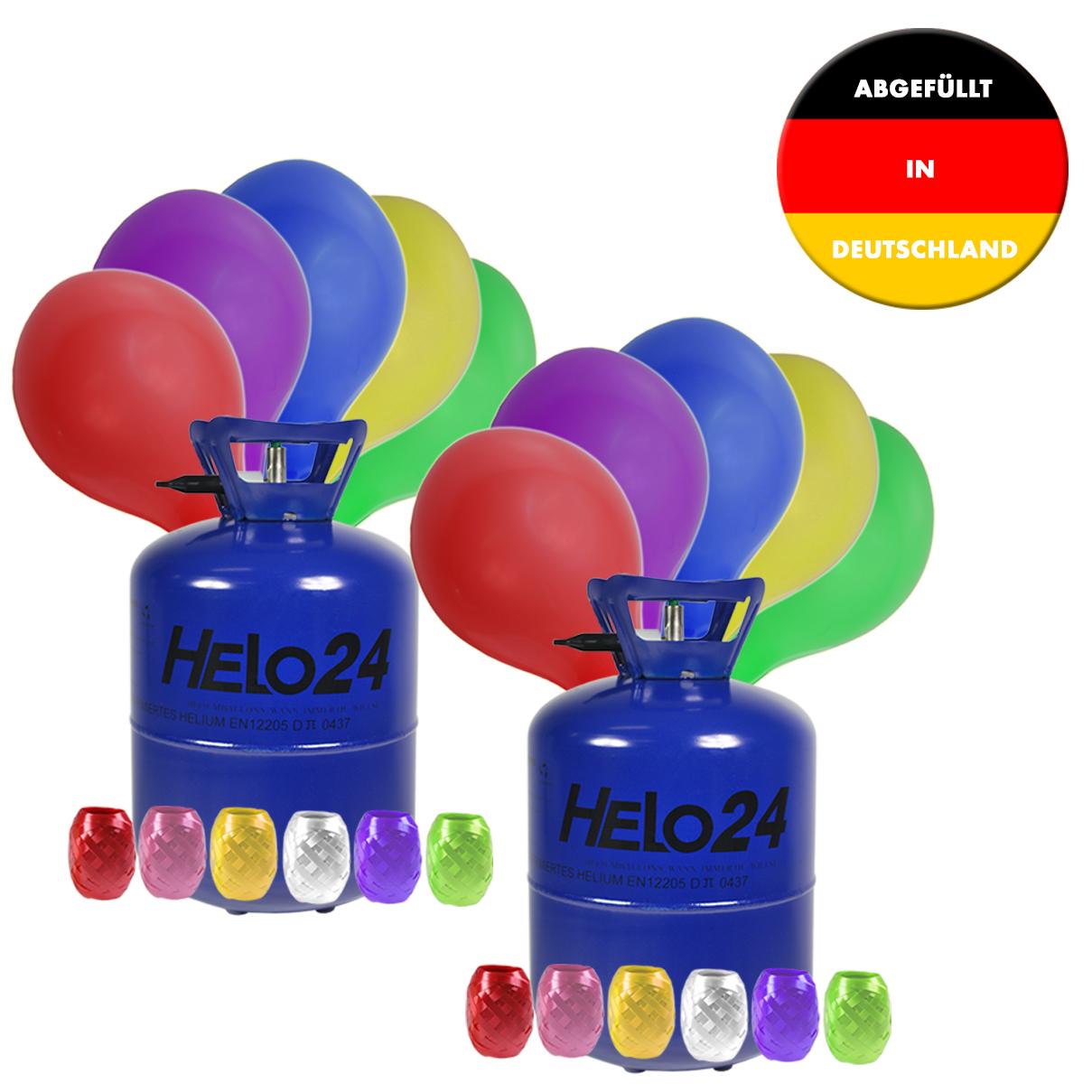 helium ballongas heliumgas heliumflasche gas 2er set ca. Black Bedroom Furniture Sets. Home Design Ideas