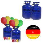 Helium Ballongas Heliumgas Heliumflasche Gas 2er Set ca. 30 oder 50 Luftballons 001