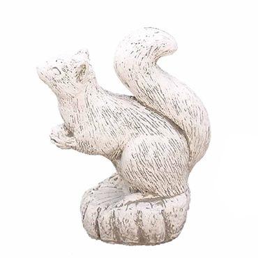Steinfigur Eichhörnchen Sandstein Gartenfigur Statue Deko Steinguss (518) – Bild 1