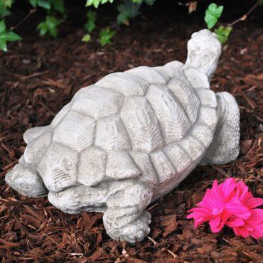 Steinfigur Schildkröte Sandstein Gartenfigur Statue Deko Steinguss (540) – Bild 6