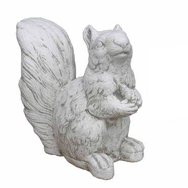 Steinfigur Eichhörnchen Sandstein Gartenfigur Statue Deko Steinguss (H07) – Bild 1