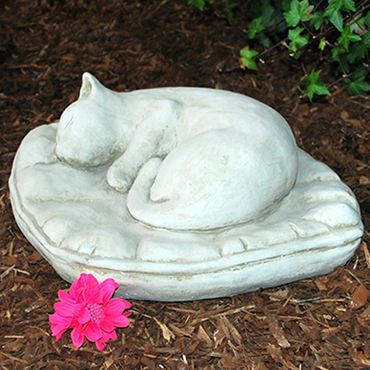 Steinfigur Katze Sandstein Gartenfigur Statue Deko Steinguss (HO8) – Bild 5