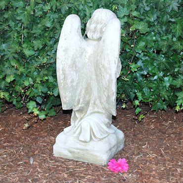 Steinfigur Engel Sandstein Gartenfigur Statue Deko Steinguss (245) – Bild 6