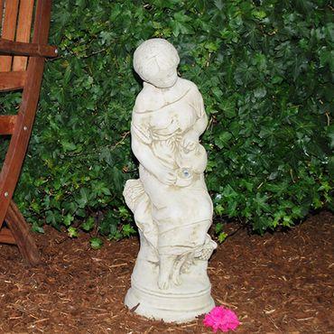 Steinfigur Frau Sandstein Gartenfigur Statue Deko Steinguss (H0100) – Bild 2