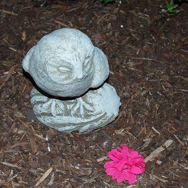 Steinfigur Eule Sandstein Gartenfigur Statue Deko Steinguss (530)  – Bild 8
