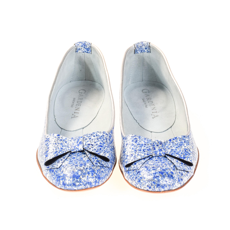 gardenia damen ballerinas leder blau silber wei damen ballerina. Black Bedroom Furniture Sets. Home Design Ideas