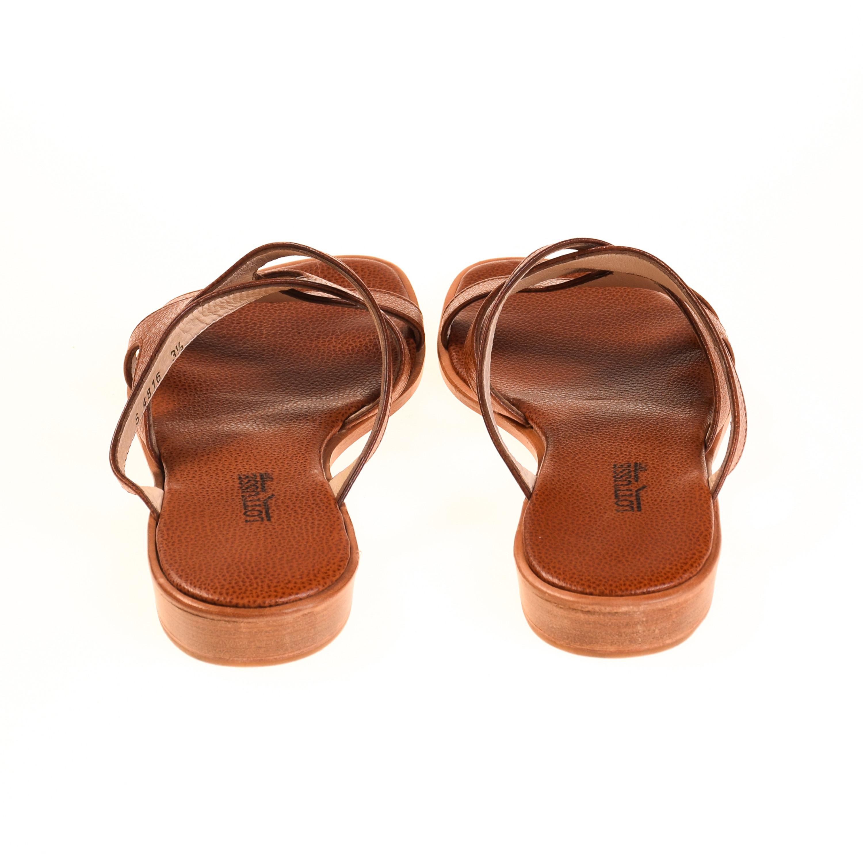 lottusse damen sandalen leder braun damen sandalen. Black Bedroom Furniture Sets. Home Design Ideas