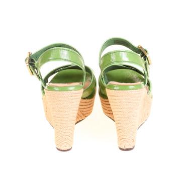 UGG Damen Wedges Keilabsatz Sandalen Leder Grün – Bild 3