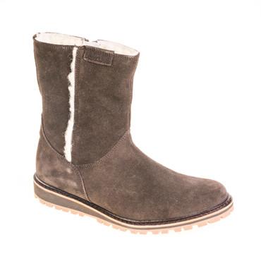 Aigle Damen Winterstiefel Boots gefüttert Stiefel Wildleder Dunkelbraun – Bild 1