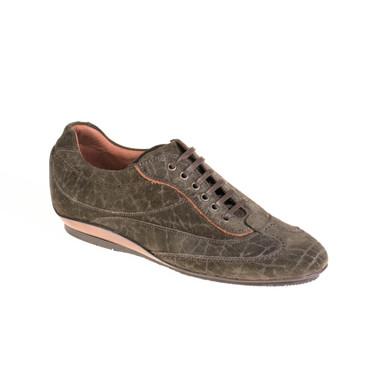 Lottusse Damen Sneaker Wildleder Dunkelgrün – Bild 1