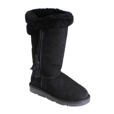 Jina Pia Tozzi Damen Winterstiefel Boots Wildleder Schwarz – Bild 1