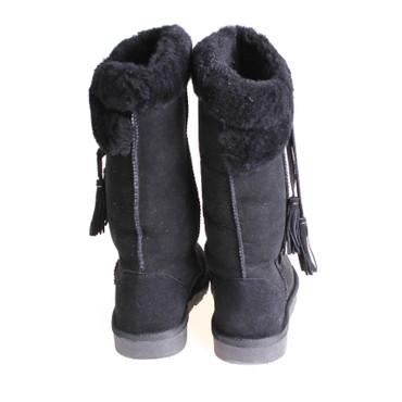 Jina Pia Tozzi Damen Winterstiefel Boots Wildleder Schwarz – Bild 3