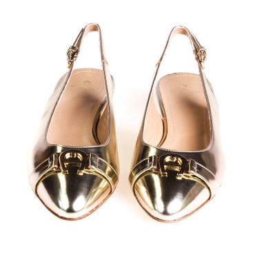 Aigner Damen Halbschuh Leder Gold  – Bild 2