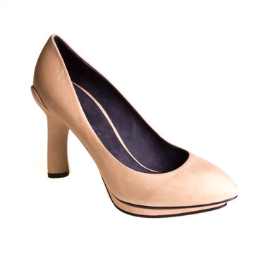 Puro Secret Damen Pumps Leder Beige – Bild 1