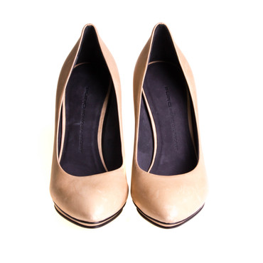 Puro Secret Damen Pumps Leder Beige – Bild 2