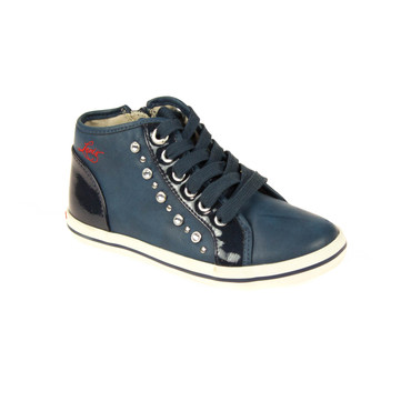 Levis Kinder Sneaker High Top Leder Blau – Bild 1