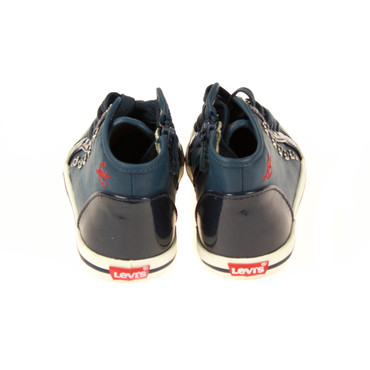 Levis Kinder Sneaker High Top Leder Blau – Bild 3