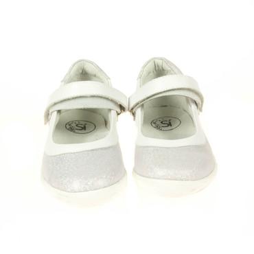Si Kinder Sandale Weiß Silber  – Bild 2