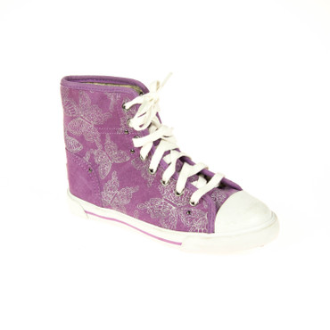 UGG Kinder Sneaker High top Leder Violett – Bild 1