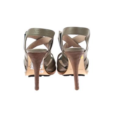 Studio Pollini Damen Pumps Leder Grau Braun Taupe – Bild 3