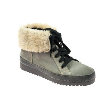 Manas Damen Sneaker Wildleder Grau gefüttert – Bild 1