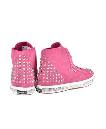 Superga Damen Sneaker Fuxia Pink mit Nieten – Bild 3