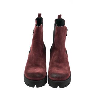 Baru Damen Stiefeletten Boots Wildleder Rot Bordoux – Bild 2