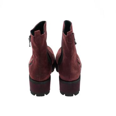 Baru Damen Stiefeletten Boots Wildleder Rot Bordoux – Bild 3