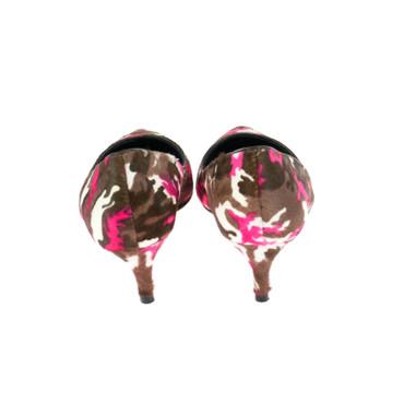 Lola Cruz Damen Pumps Leder Fellbesatz Pink Braun  – Bild 3