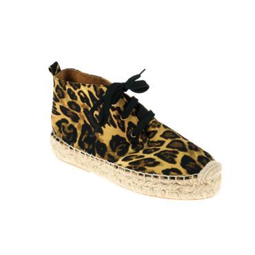 Maypol Damen Sneaker Schwarz Braun Leopardmuster – Bild 1