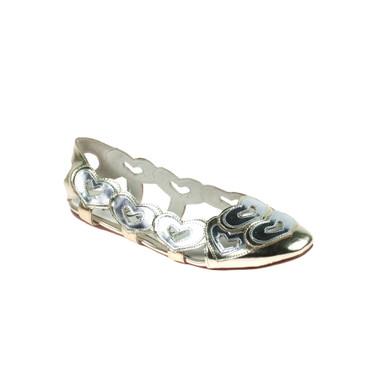 Jeffrey Campbell Damen Ballerinas Leder Silber  – Bild 1
