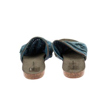 Bottega Artigiana Damen Sandale Leder Blau  – Bild 3